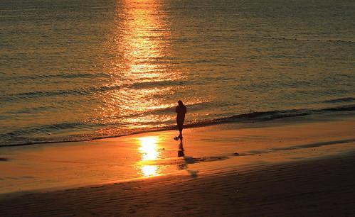 sunset beach landscape thailand 风景 日落 海滩 krabi 黄昏 泰国 夕阳
