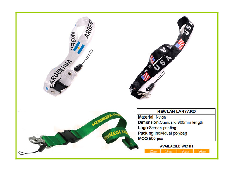 nylon lanyard with screen printing