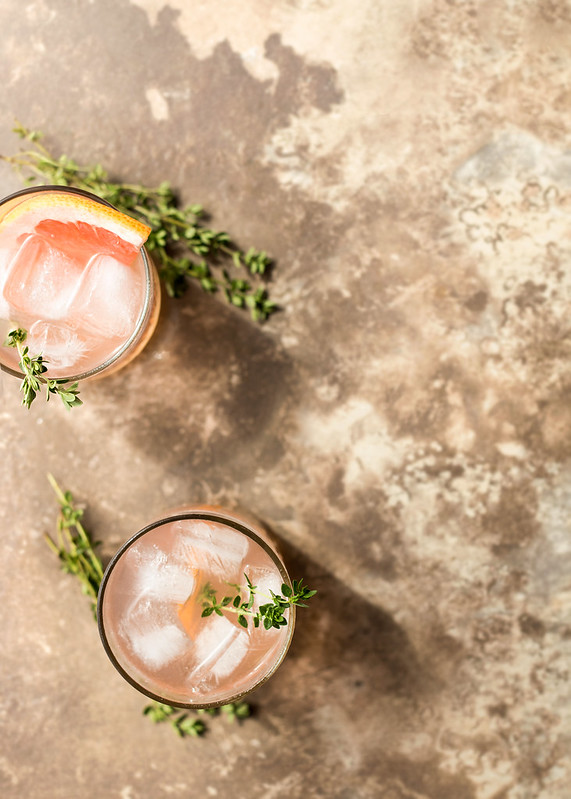 Grapefruit, Thyme, and Lillet Cocktail