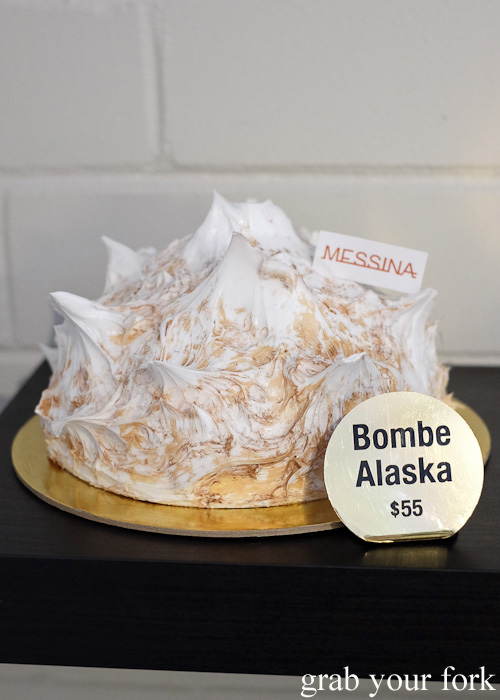 Messina Bombe Alaska gelato cake at Gelato Messina HQ, Rosebery