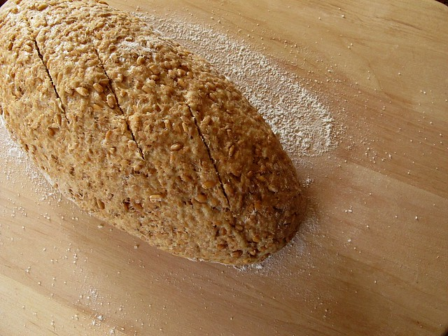 sprouted wheat bread, unbaked