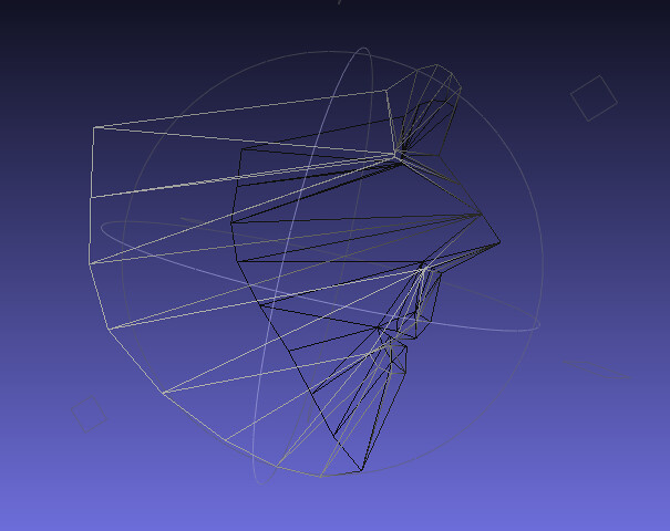 FaceTracker reference 3D model in wireframe