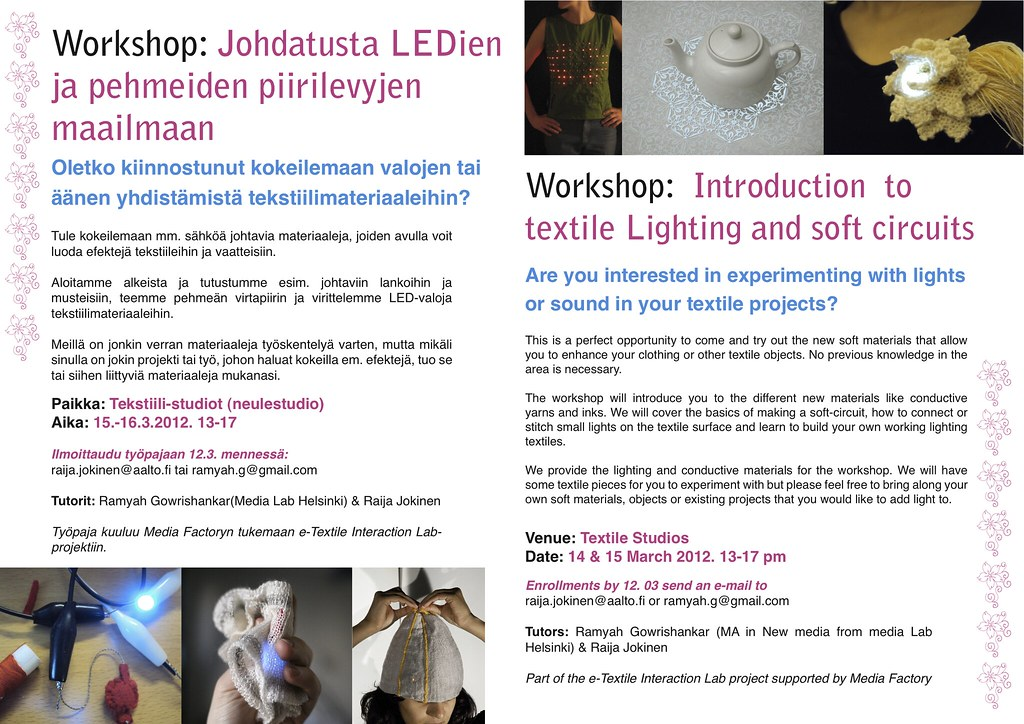 Workshop: Intro to textile lighting & soft circuits