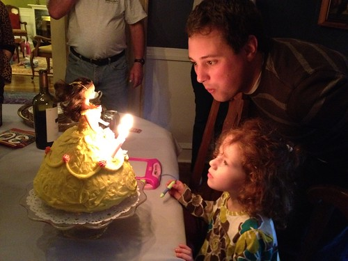 Blowing out candles!