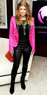 Fergie Pink Blazer Celebrity Fashion Style