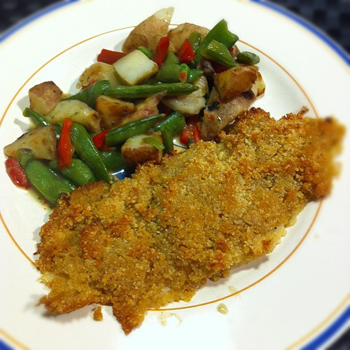 Flounder with Mixed Vegetables (Nigel Slater) by stevegarfield