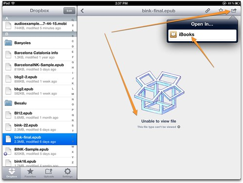 dropbox to iBooks