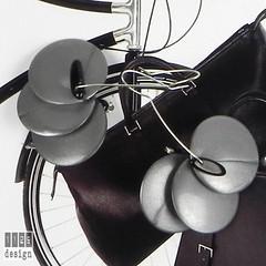 NDISCO orecchini dischi grigi vintage onice
