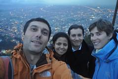Amb la Delvi i el seu amic David a Montserrate