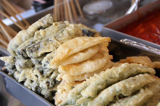 Korean street food tempura (deep fried goodies!)