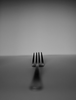 Day 193 An arty view of a fork