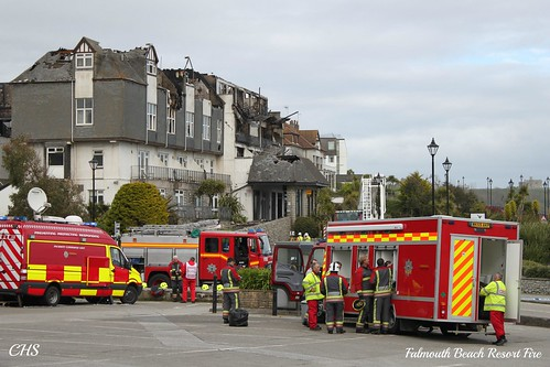 Falmouth Beach Resort Fire by Stocker Images
