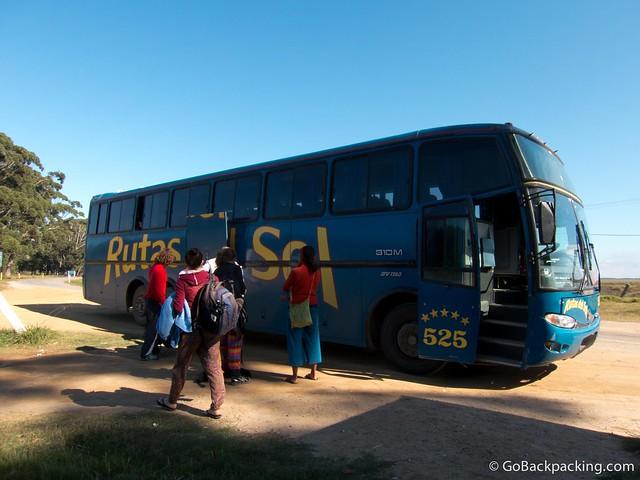 The Rutas del Sol bus