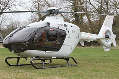 G-SENS - 2009 build Eurocopter EC135 T2+, at the 2012 Cheltenham Festival