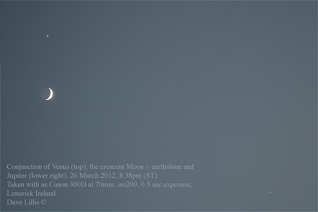 Jupiter, Venus, Moon conjunction - Limerick Astronomy Club