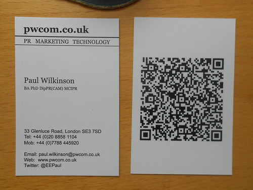 New business cards same qr code the pwcom blog scanning reheart Images