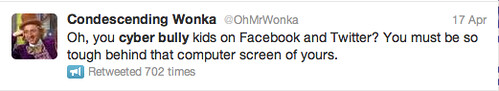 Condescending Wonka on Cyber Bullying