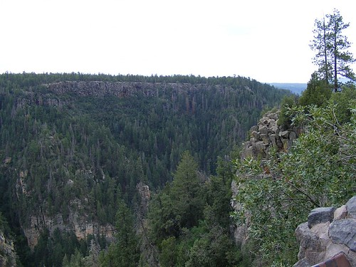 From the view point at the top of Oak Creek Canyon