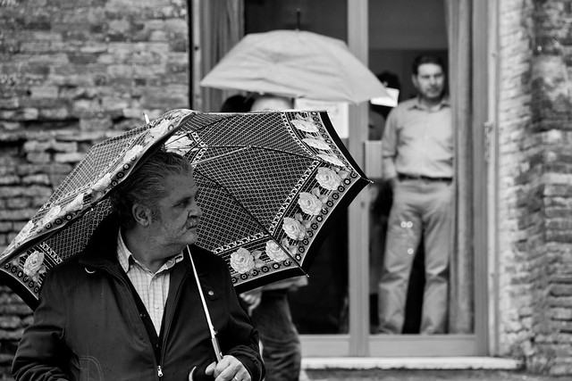 Perugia - Man and Umbrella