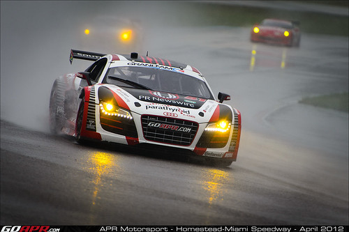apr motorsport s audi r8 grand am slows after strong start. Black Bedroom Furniture Sets. Home Design Ideas