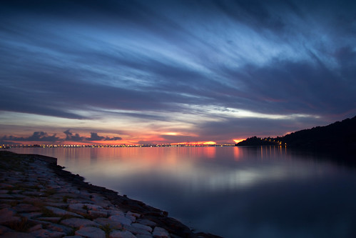 Sunrise from Queensbay Mall Penang by andruphotography