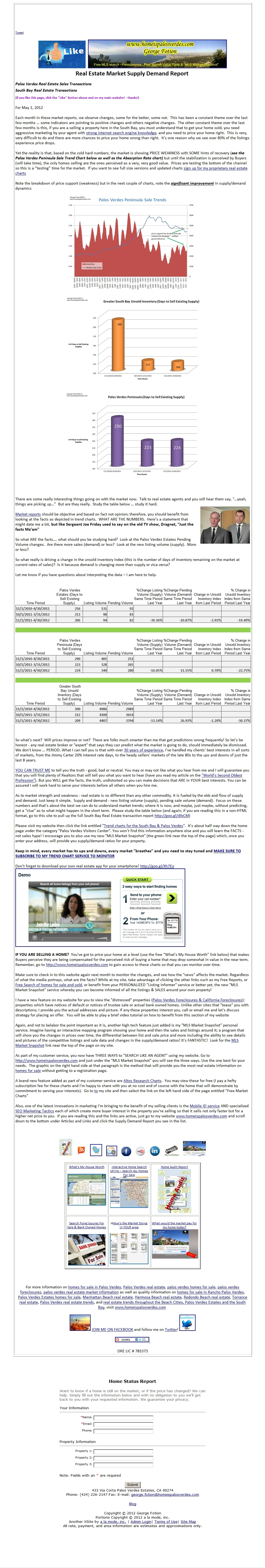 palos verdes home sales market report for may 2012