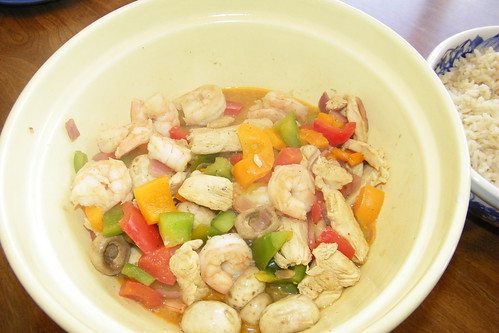 Rainbow Chicken with Shrimp