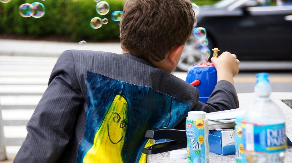 Photo Friday: Isaac Holliday, Bubbles….and Milo