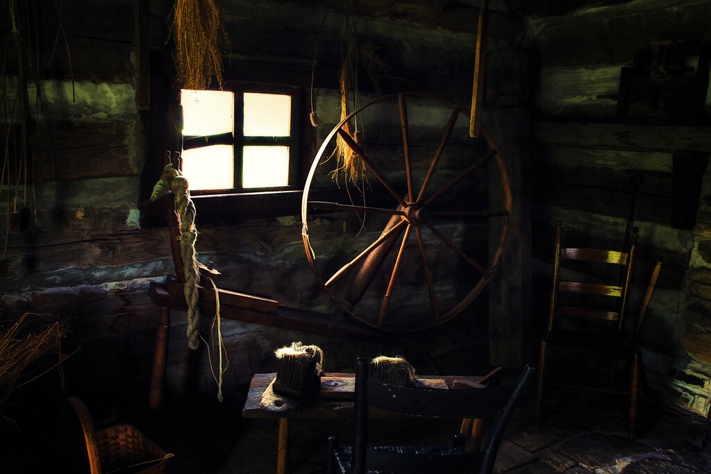 The Spinning Wheel | This was taken in a clothmaker's cabin