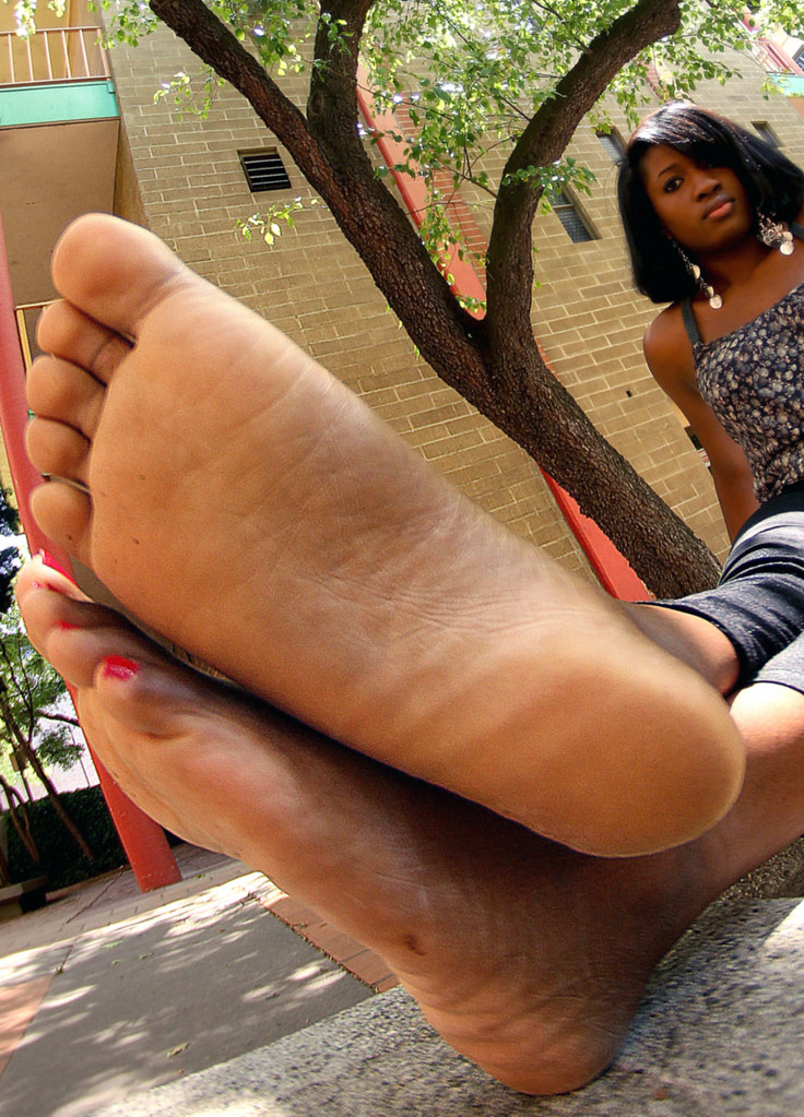 Black girl naked feet