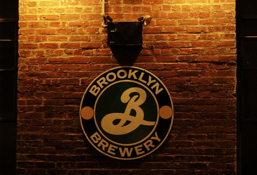 Brewery Sign on Brick Wall