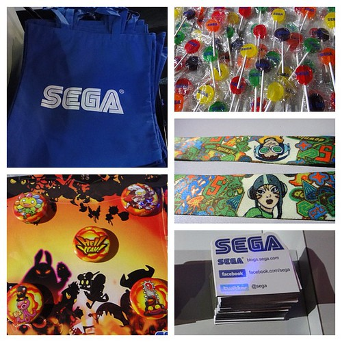 We're giving away awesome stuff at the #Sega booth! #segaE3