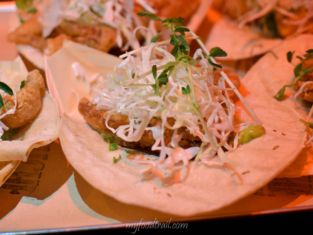 Touche Hombre – Soft shell crab tacos