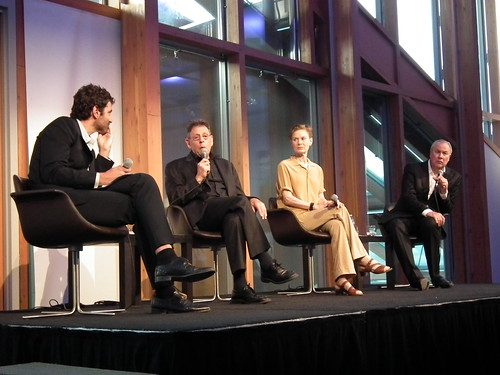 Philip Glass, Robert Wilson and Lucinda Childs. Contemporary Opera's Big Bang discussion at AGO. Luminato 2012 (Toronto)