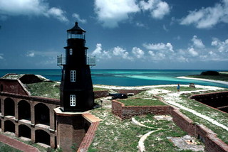 Fort Jefferson Lighthouse: Dry Tortugas, west of Key West, Florida