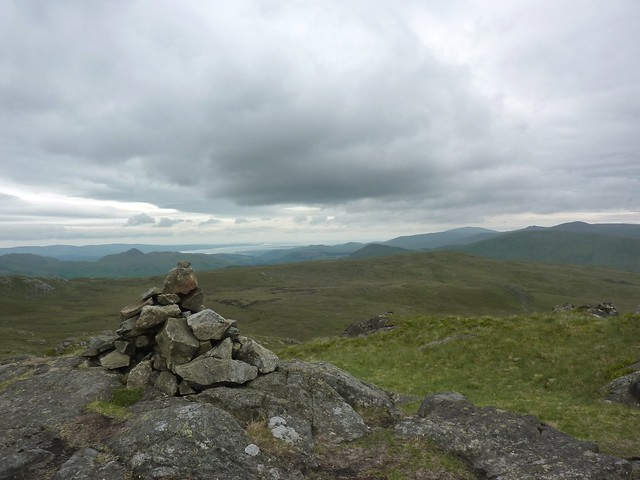 The summit cairn on Green Crag