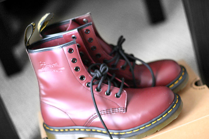 Dr. Martens boots, Cherry Red Dr. Martens boots, Doc Martens Shoes, Fashion
