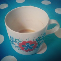 empty: cup of coffee before i have to leave for school.