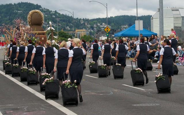 Alaska Airlines Marching Flight Attendants Flickr