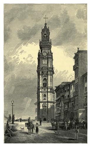 008-La Torre de Los Clerigos en Oporto-Fair Lusitania -1874