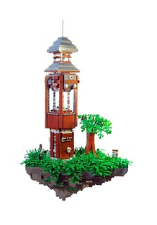 Steampunk: Flying Lighthouse
