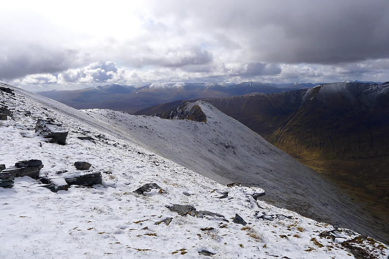 The south ridge and Mullardoch Hills