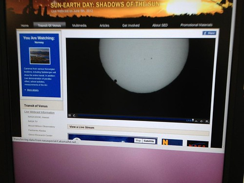 Live feed of the Venus transit