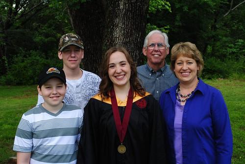 Hannah with the Manns:  Laura, Marvin, Jackson, Jonathan