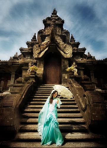 無料写真素材, 人物, 女性, 宗教施設, ワンピース・ドレス, マレーシア人, 寺院・お寺