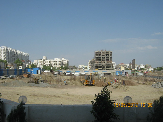 Madhupushpa, Eden, Siddhivinayak Vision Square & construction Site of the B Building in Goldfinger Avenir 2 BHK & 3 BHK Flats at Wakad - View from the site office  - Visit Monarch Renaissance, 4 BHK 3 BHK & 2 BHK Flats at Wakad, Pune 411057