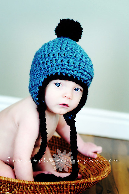 XiaoNiBa Lovely Flowers Cotton Crochet Baby Beanie Earflap Hat