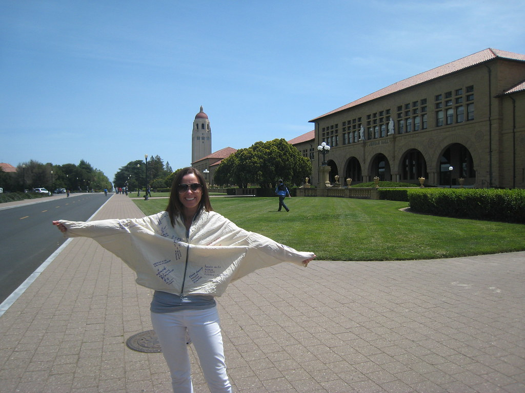 Marion (IN) United States  city photos gallery : Marin Suarez and her daughter at the famous Stanford University in ...