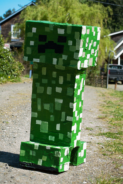 Small Garden Minecraft Ideas: Minecraft Creeper Piñata