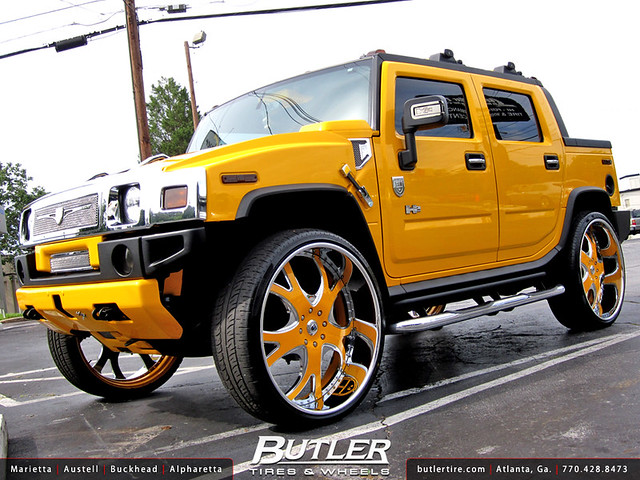 Hummer H2 with 30in Asanti AF143 Wheels